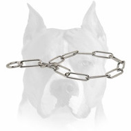 Amstaff Chrome Plated Fur Saving Dog Collar