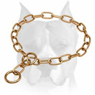 Amstaff Choke Chain Collar for Training and Walking