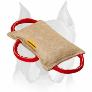 Amstaff Jute Dog Bite Pillow with 3 Solid Handles