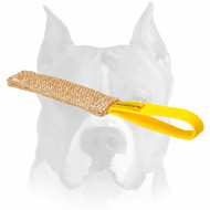 Amstaff Jute Puppy Bite Tug with Comfortable Handle