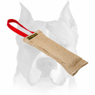 Amstaff Jute Puppy Bite Tug for Training and Playing with 1 Handle