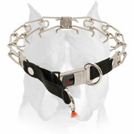 Amstaff Stainless Steel Pinch Dog Collar With Quick Lock System
