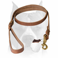 Amstaff Professional Genuine Leather Dog Leash
