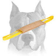 Leather Dog Bite Tug with Convenient Handles for Training Amstaff