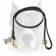 Amstaff Handmade Full Grain Leather Dog Leash