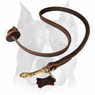 Amstaff Pocket Leather Dog Leash for Training
