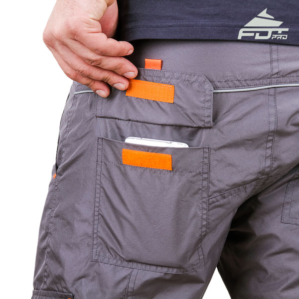 Comfy Design FDT Professional Pants with Reliable Side Pockets for Dog Trainers