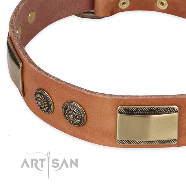 Adjustable leather collar for your beautiful canine
