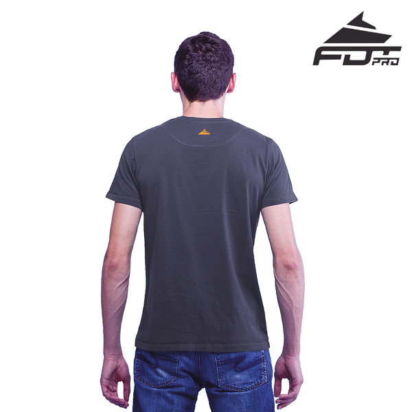 Men T-shirt Dark Grey Color FDT Professional for Dog Trainers