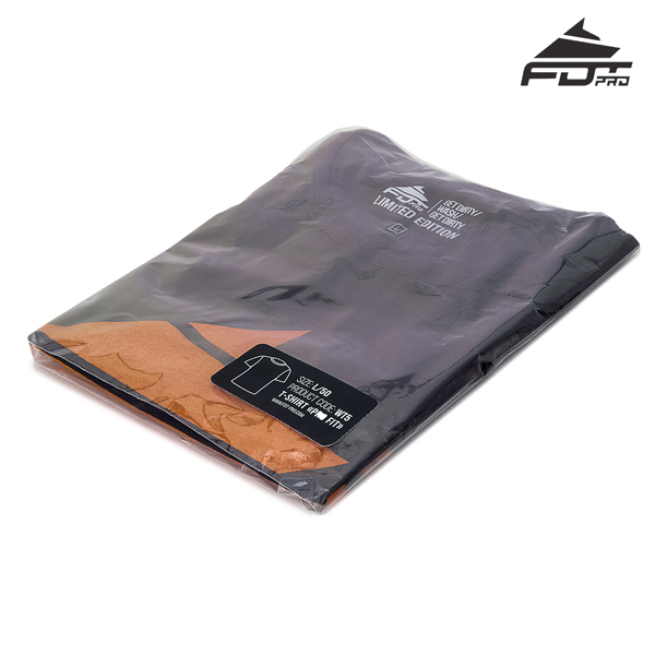 Filled Professional T-shirt of Dark Grey Color