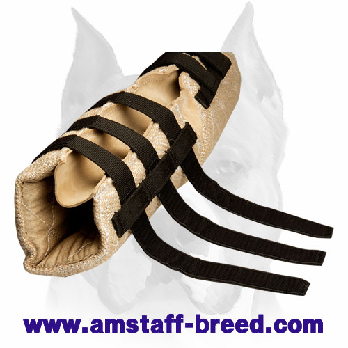 Jute dog hidden protection sleeve for bite training for Amstaff