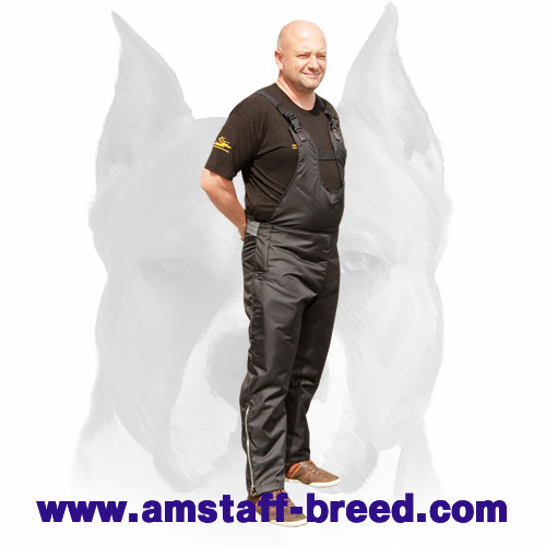 Amstaff training flexible nylon scratch pants with adjustable belts