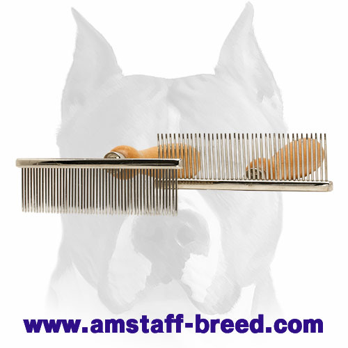 Amstaff Metal Brush with Chrome Plated Teeth