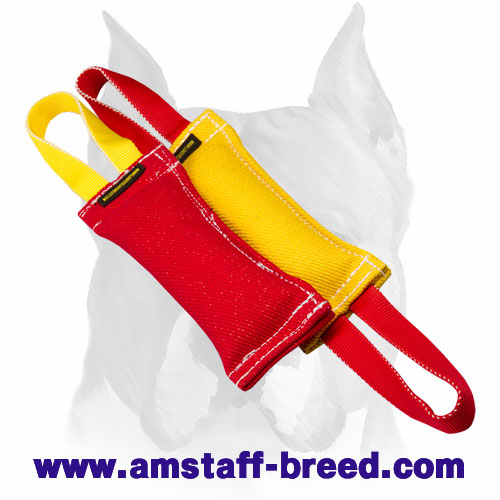 Amstaff useful set of bite tugs with handles for training
