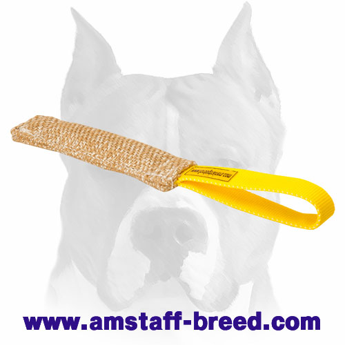 Strong Jute puppy bite tug for training Amstaff breed