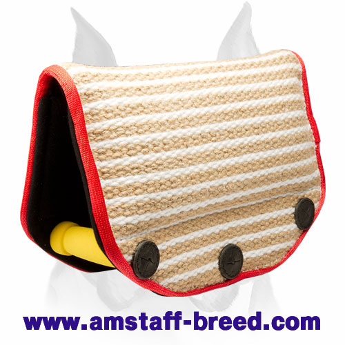 Strong Jute puppy bite builder for training Amstaff