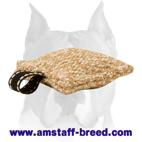 Amstaff durable and strong Jute bite tug for training puppies