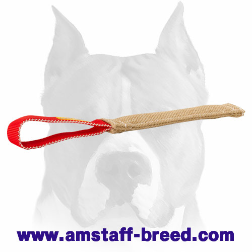 Durable Jute puppy bite tug for training Amstaff breed