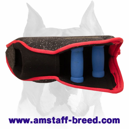 Amstaff strong young dog bite builder sleeve for training