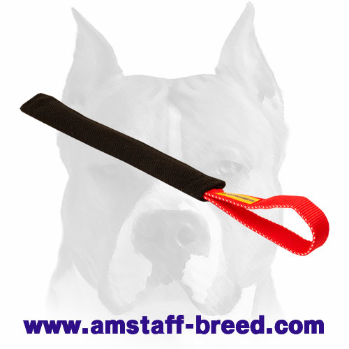 Long and narrow French linen puppy bite tug for training Amstaff breed