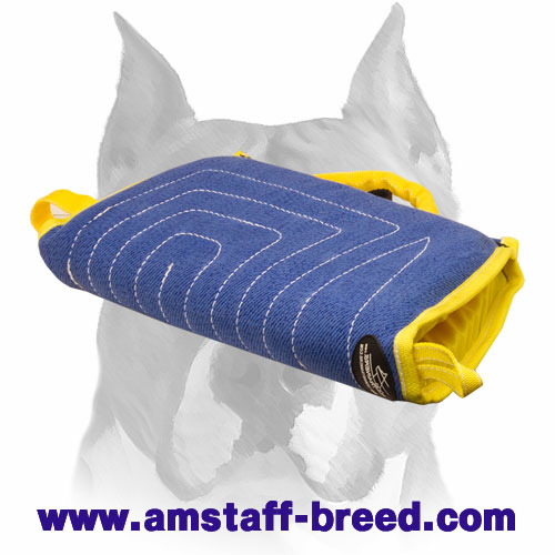 Amstaff soft puppy bite sleeve with handle