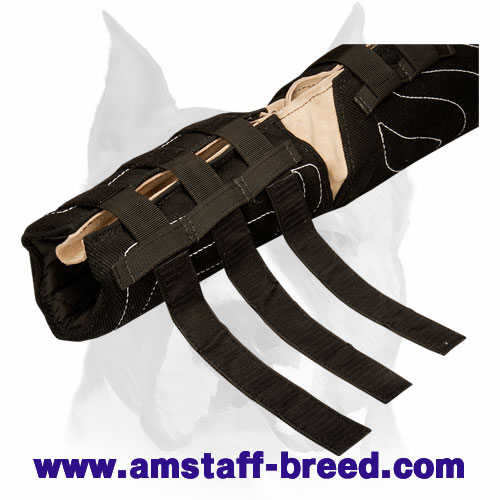 Amstaff French linen dog hidden protection sleeve for professional bite training