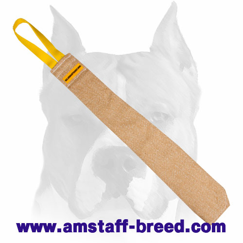 Strong Jute bite rag for prey drive training Amstaff breed