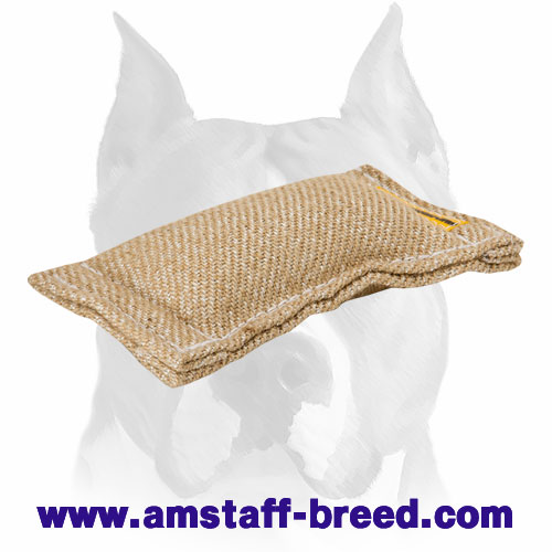 Amstaff Jute puppy bite tug for training and playing