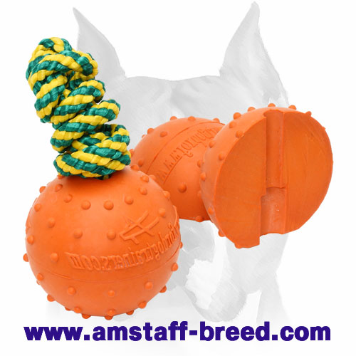 Amstaff rubber water ball