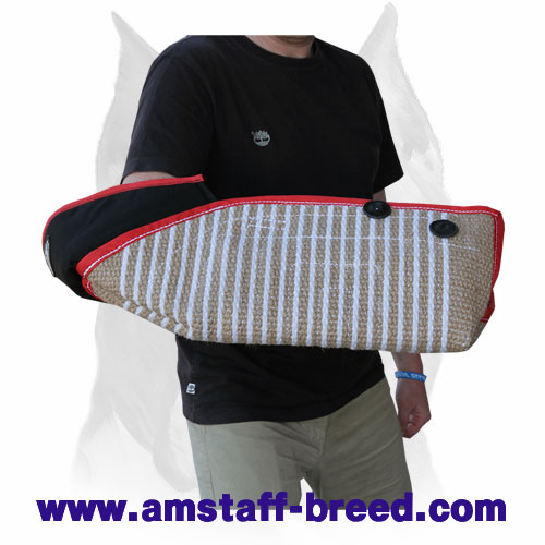 Solid bite protection dog sleeve for Amstaff breed