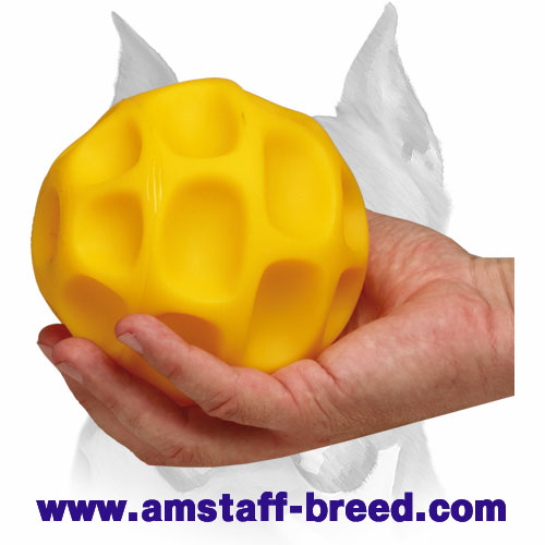 Amstaff treat dispenser tetraflex ball made to prevent overeating
