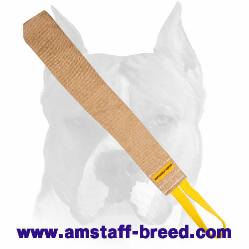 Amstaff bite rag with 1 strong handle for prey drive training puppies