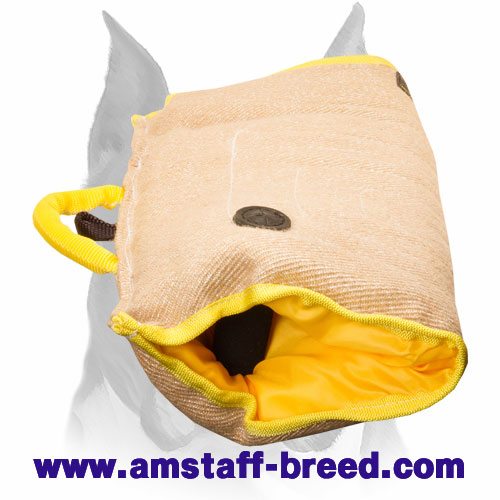 Amstaff jute puppy sleeve for bite training