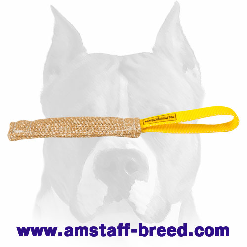 Strong Jute bite tug for training Amstaff puppies
