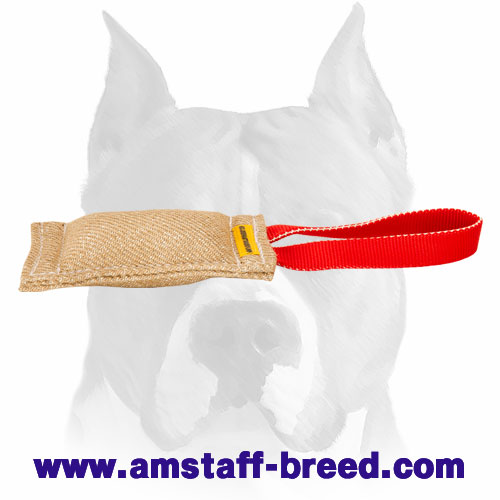 Amstaff durable Jute puppy bite tug for training and playing