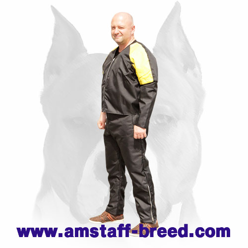 Amstaff training strong nylon scratch suit with removable sleeve and adjustable belts