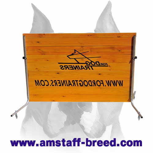 Dog Wood Jump for Amstaff Training