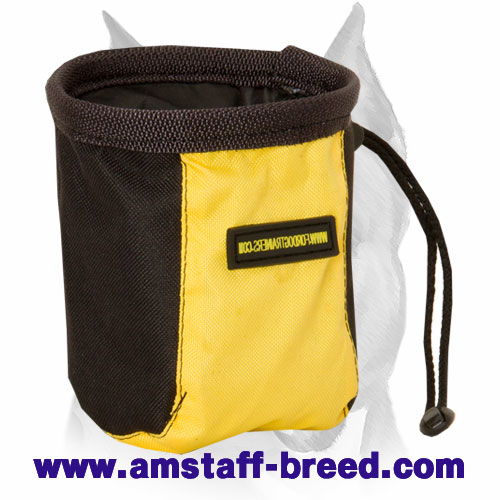 Amstaff training treat pouch with pull cord