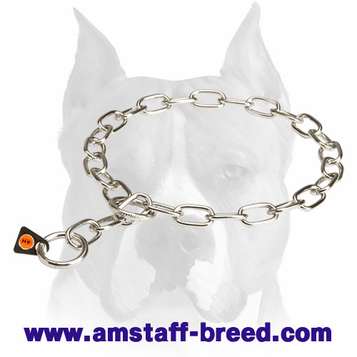 Amstaff Fur Saver Choke Chain Dog Collar