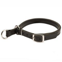 Leather Choke Collar for Amstaff