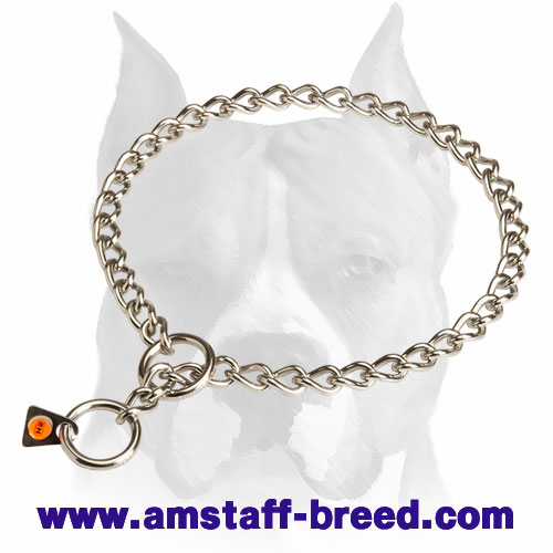 Herm Sprenger Choke Dog Collar for Amstaff - Click Image to Close