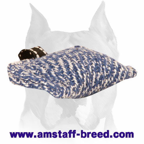 French Linen Pocket-Size Bite Tug for Training Amstaff Puppies
