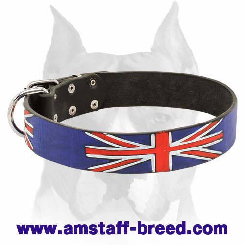 Amstaff Exclusive Design Limited Edition - Union Jack - Leather Dog Collar