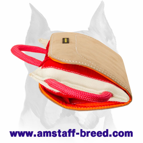 Amstaff 'Pro Bite Pillow' Covered with Genuine Leather for Training