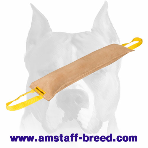 Amstaff Huge Bite Tug Made of Genuine Leather for Training