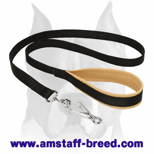 Amstaff Nylon Dog Leash with Soft Handle for Everyday Activities - Click Image to Close