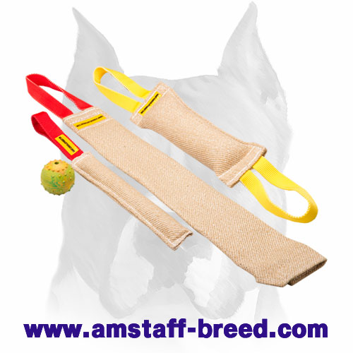 Amstaff Jute Set of Bite Tugs for Training Puppies