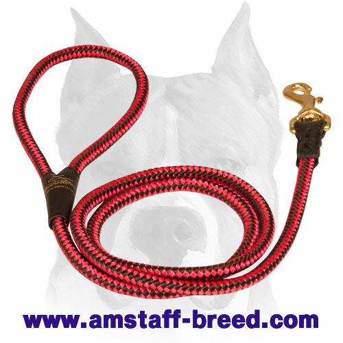 Amstaff Lightweight Nylon Cord Dog Leash