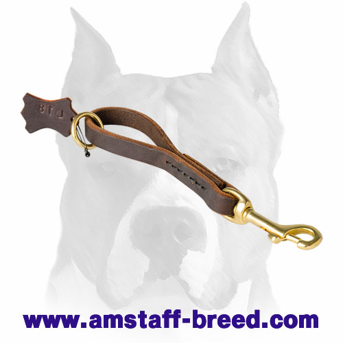 Amstaff pure leather pull tab dog leash