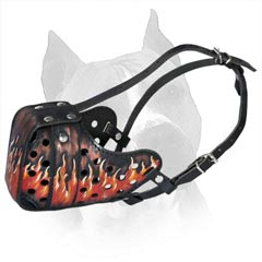 Bright Decorative Leather Dog Muzzle